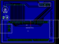 pcb design for the LCD module to EB675001DIP application note