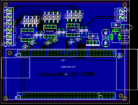 Board view of the three chanel PWM driver for the EB675001DIP